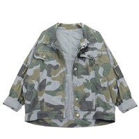 Camouflage Print Long Sleeve Jacket