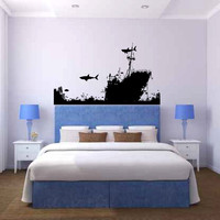 Ocean Shipwreck Reef Vinyl Wall Decal Sticker Graphic