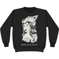 Being As An Ocean Men's  Wolf Girl Sweatshirt Black