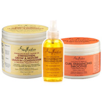 """LOC"" with Shea - Curl Stretching Moisture Bundle With 100% Pure Flaxseed Oil"