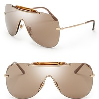 Gucci Mirrored Shield Sunglasses