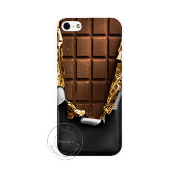 Chocolate Style Hard White Cover Skin Back Case Cover For Apple iPhone 4 4G 4S 5 5G 5S SE 5C 6 6S 7 Plus 6SPlus