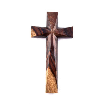 Wooden Wall Cross, Wood Cross, Wood Wall Cross, Christian Wall Decor, Wall Cross, Home Decor, Hand Carved Wall Cross, Decorative Wall Cross