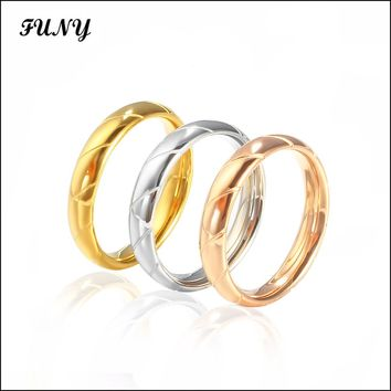 Funy ring for women High quality jewelery Stainless Steel Classic Party Wedding Bands lady female jewelry women rings