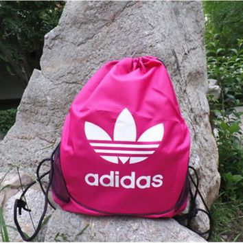 Adidas Men and women of mouth draw string backpack to receive the student sports fitness yoga training bag bag bag mail