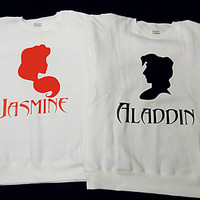 Free Two Day Shipping For US Aladdin & Jasmine Couples Sweatshirts