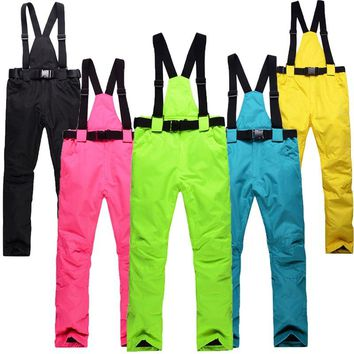Skiing pants Women Men Professional Ski Pants Warm Windproof Waterproof Snow Snowboarding Pants Outdoor Winter Trousers