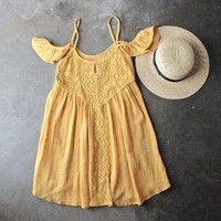 gauzy flutter sleeve boho dress