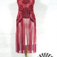 The Swanson Red Black : 1920's Style Dress