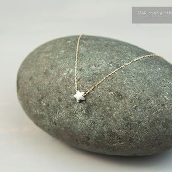 Tiny Star Necklace - Small Sterling Silver Star on Gold Fill or Silver Chain  //  Minimal Everyday Necklace  //  STAR Necklace LN310S
