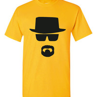 BREAKING BAD inspired walter white graphic printed tshirt sizes unisex small thru 3XL