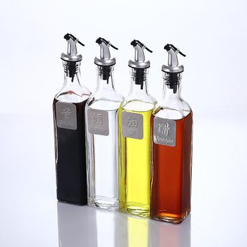 500ml Kitchen Oil Soy Vinegar Liquor Sauce Storage Bottle Leakage-proof Spice Can Container Holder