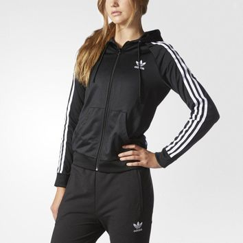 Adidas Women Fashion Zip-up Hooded Top Shorts Pants Sweatpants Set Two-Piece Sportswear