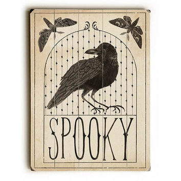 Spooky by Artist Sara Zieve Miller Wood Sign