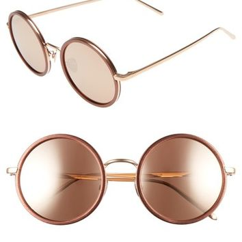 Linda Farrow 52mm Round Sunglasses | Nordstrom