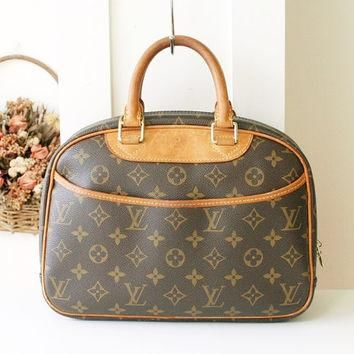 Louis Vuitton Bag Trouville monogram Vintage handbag France Authentic Tote handbag