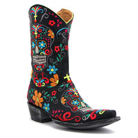 Old Gringo Klak Sugar Skull Boot