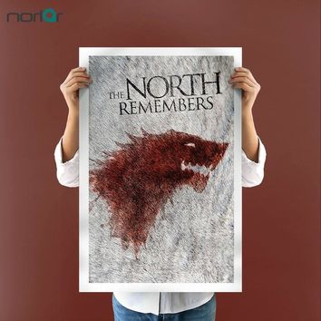 Canvas Picture Art HD Print Painting Canvas Art  House Stark Game Of Thrones Poster Winter Is Coming  Modern Home Wall Decor