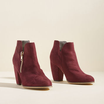 Perfect Form Block Heel Bootie