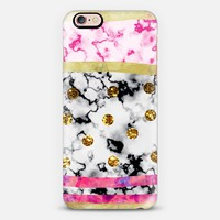 Marble gold Polka Dot iPhone 6s case by Vasare Nar | Casetify