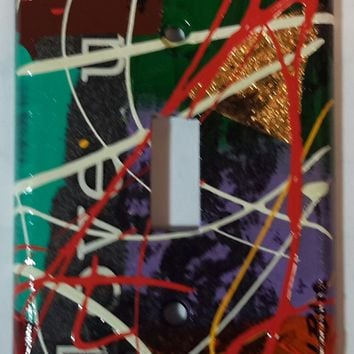 Hand Painted #12 Light Switch Cover