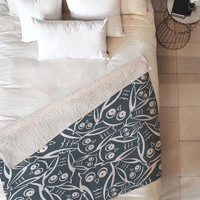 Heather Dutton Night Owl Fleece Throw Blanket