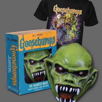 GOOSEBUMPS - THE HAUNTED MASK - LIMITED EDITION MASK AND T-SHIRT - Fright-Rags