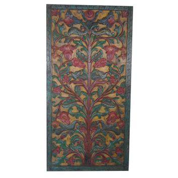 Mogul Bohemian Vintage Barn Door Hand Carved KALPAVRIKSHA TREE OF Dreams Interior Design - Walmart.com