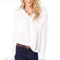 Chambers Blouse in White - ShopSosie.com