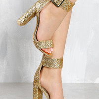 It's A Party Gold Shimmer Heel