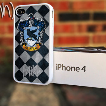 Harry Potter iPhone 4 or 4S RavenClaw School Crest Personalize Case