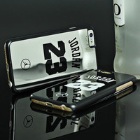 Fashion Mirrorr Case For iPhone 7 7Plus NBA Jordan Hard Plastic Phone Cases Cover For iPhone 6 6s Plus 5 5s SE Back Case Fundas