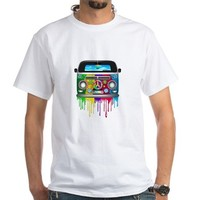 Hippie Van Dripping Rainbow Paint Men's Classic T-Shirts