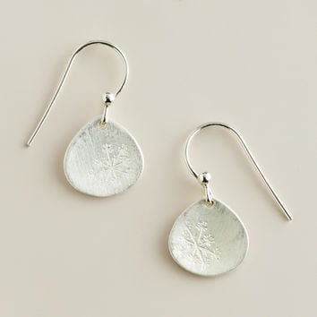 Sterling Silver Dandelion Drop Earrings - World Market