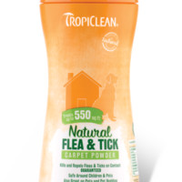 TropiClean Natural Flea & Tick Carpet & Pet Powder 11 oz