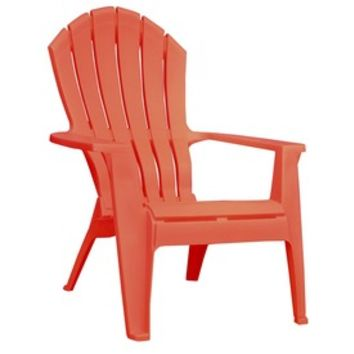 Shop Adams Mfg Corp Coral Resin Stackable Adirondack Chair at Lowes.com