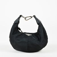 Prada Black Nylon & Saffiano Leather Top Handle Bag
