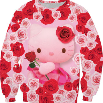 Hello Kitty Valentine Roses Sweatshirt