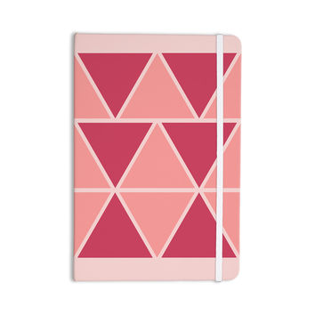 "NL designs ""Coral Peach Triangles"" Pink Patterns Everything Notebook"