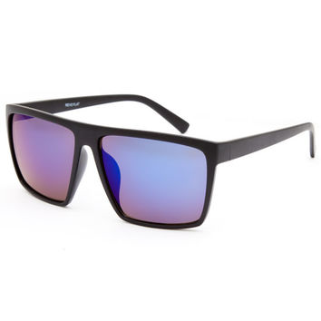 Blue Crown Flat Top Sunglasses Black One Size For Men 25756510001