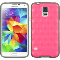 DW Premium Fusion Candy Bubble Case for Samsung Galaxy S5 - Hot Pink