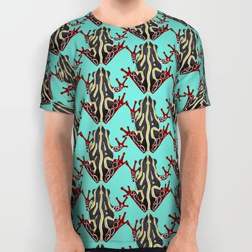 congo tree frog mint All Over Print Shirt by Sharon Turner