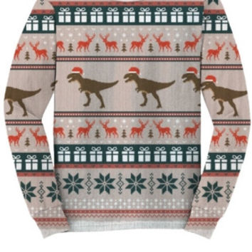 T-Rex Faux Ugly Christmas Sweater Shirt