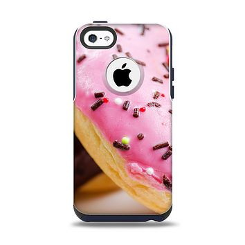 The Sprinkled Donuts Apple iPhone 5c Otterbox Commuter Case Skin Set