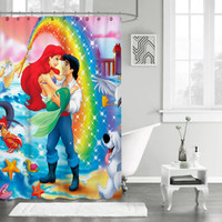 "New The Little Mermaid Disney Princess Cartoon Custom Shower Curtain 66"" x 72"""