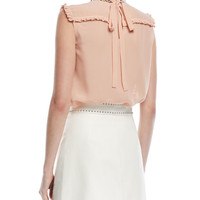Miu Miu Star-Embellished Leather Skirt and Matching Items