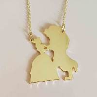 Beauty & The Beast Pendant Necklace