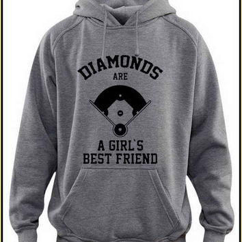 diamonds are a girl's best friend custom crewneck hoodie for unisex