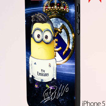 Minion C.Ronaldo Real Madrid And Signature iPhone 5 Case