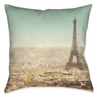 Eiffel Tower Landscape Indoor Decorative Pillow